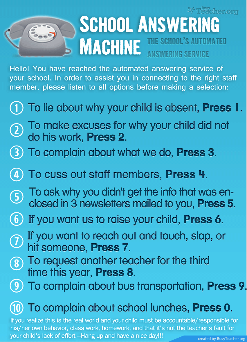 School Answering Machine: Poster