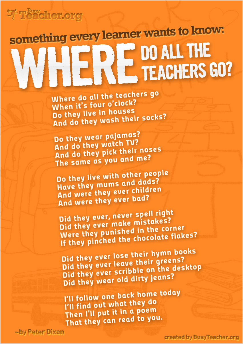 Every Learner Wants To Know � Where Do All The Teachers Go?