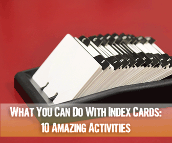 What You Can Do With Index Cards: 10 Amazing Activities