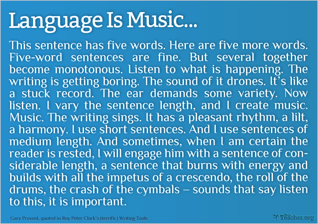 Language Is Music: Poster
