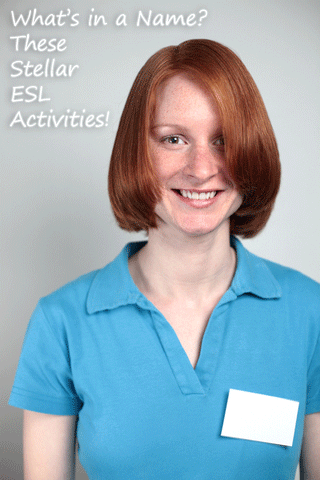★ What�s in a Name? These Stellar ESL Activities!