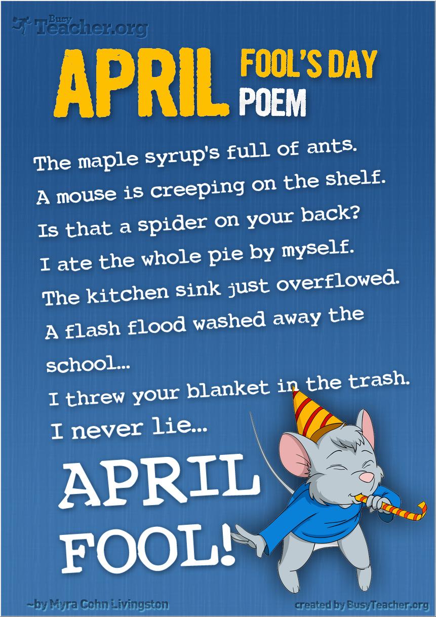 April Fool's Day Poem: Poster