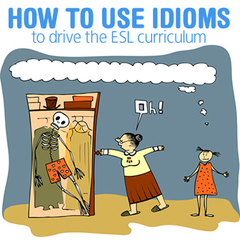 Is He �Mad About� or �Mad At� Me? How to Use Idioms to Drive the ESL Curriculum