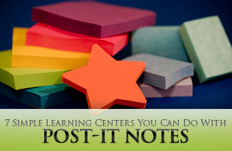 7 Simple Learning Centers You Can Do With Post-It Notes