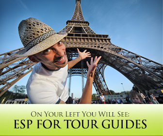 On Your Left You Will See�: ESP for Tour Guides