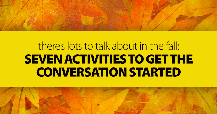 Falling Is Great with These Autumn Themed Discussion Activities