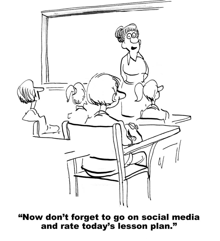 Teacher asking students o grade her lesson plan on social media
