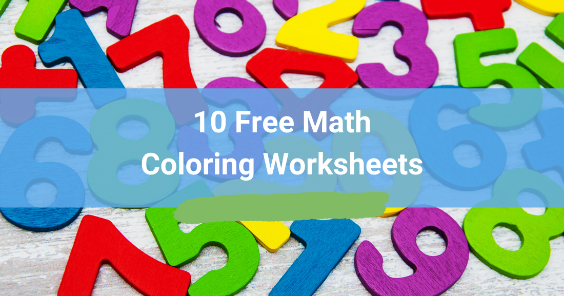 10 Free Math Coloring Worksheets