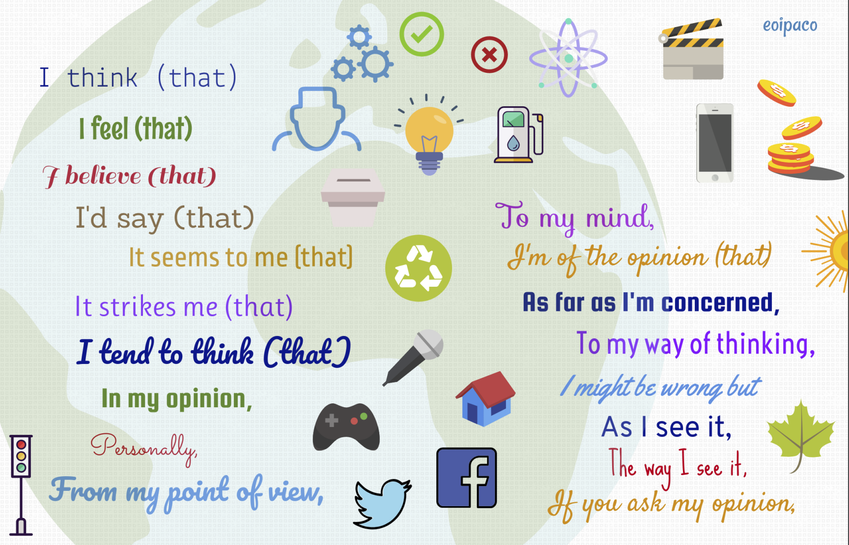 Sharing Opinions Worksheet ESL