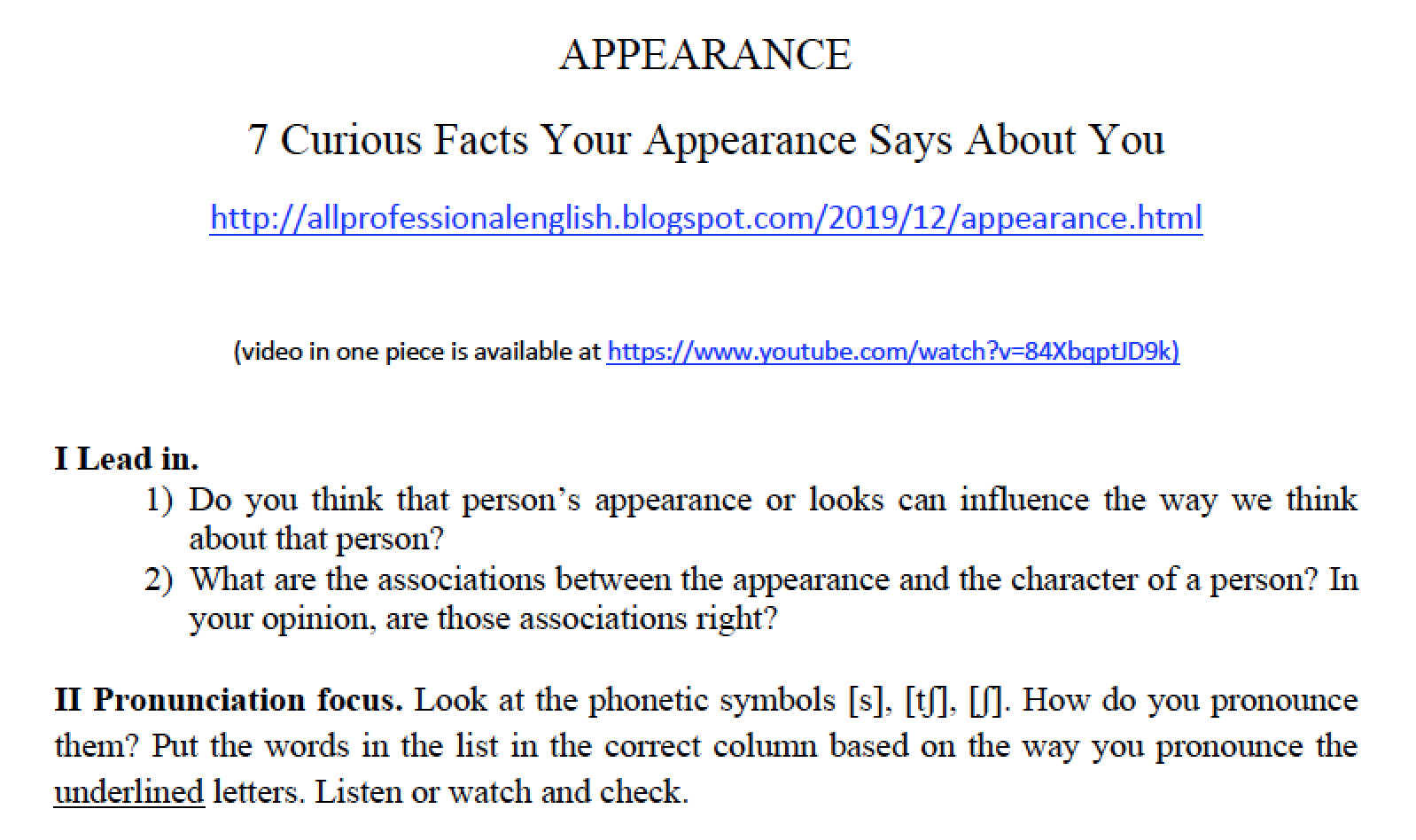 7 Curious facts your appearance can tell about you