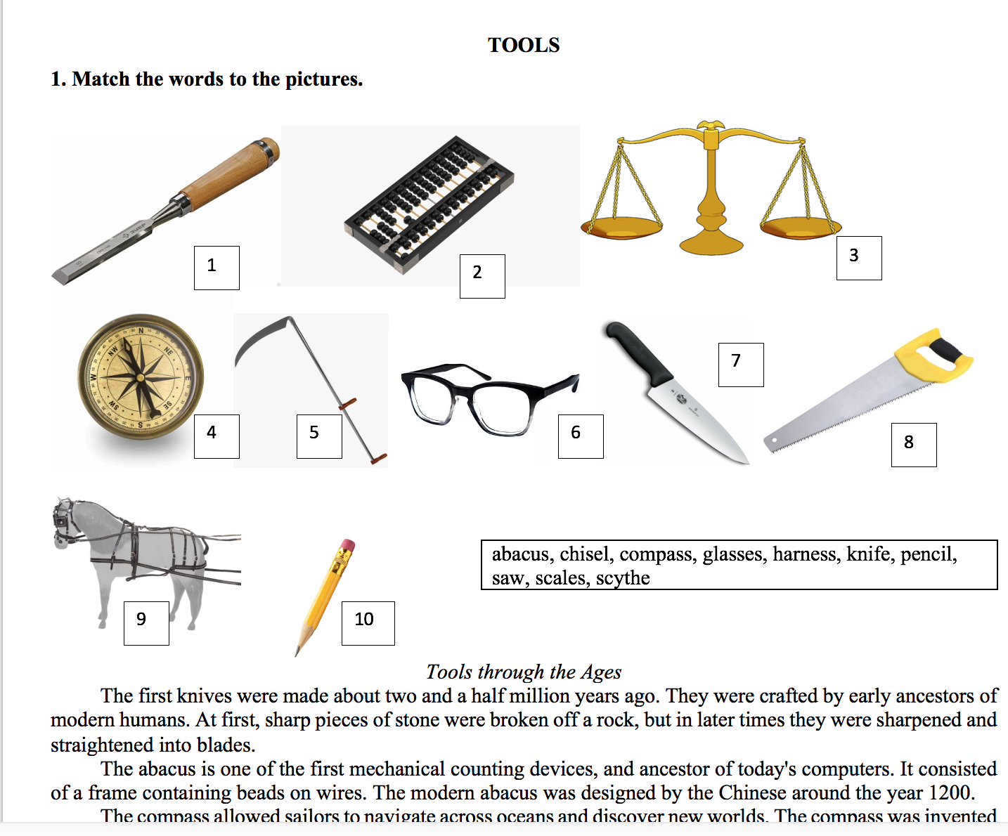 Reading about Tools